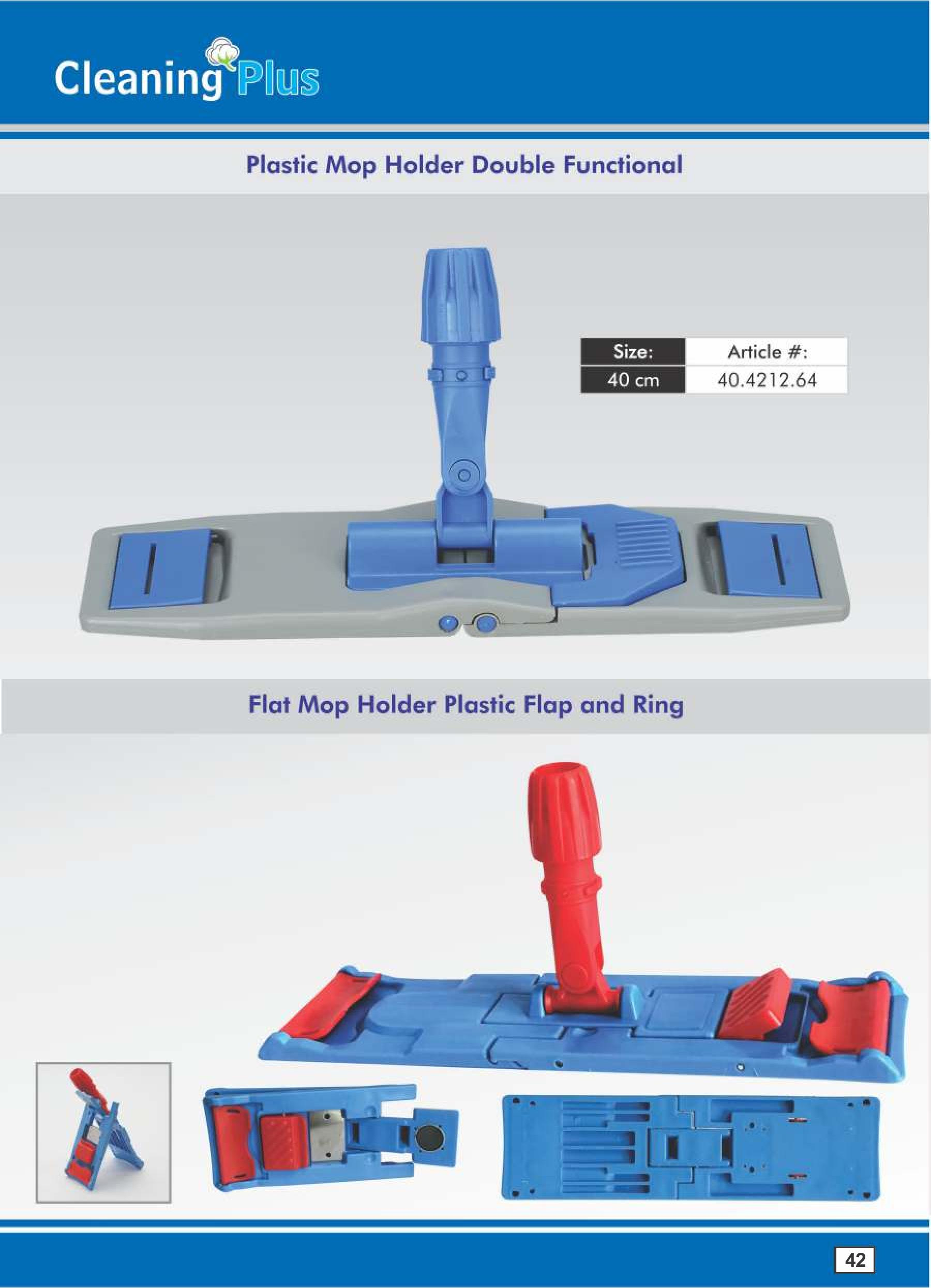 Flat mop Plastic Holder double functional and Magnet frame