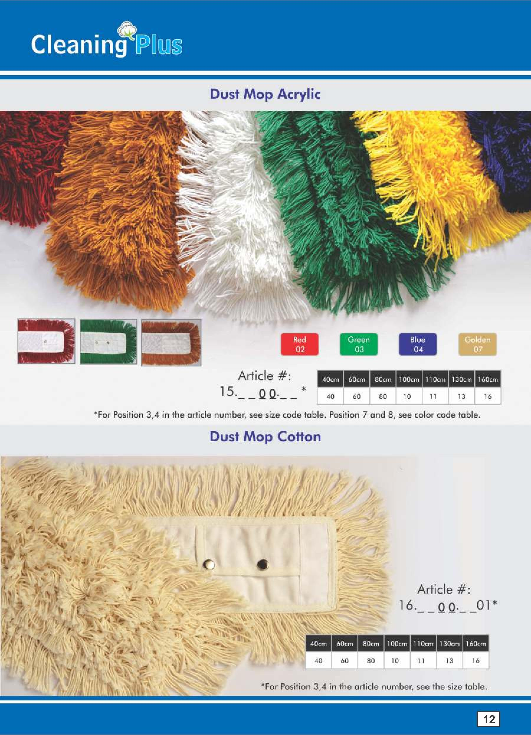 Dust Mop acrylic, available in all colors